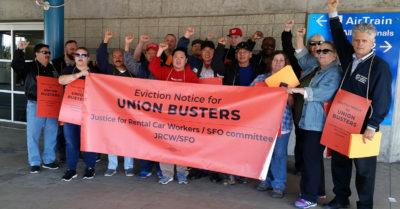 San Francisco International Airport Union Rally